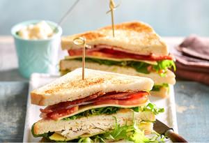 Клаб-сэндвич с бужениной