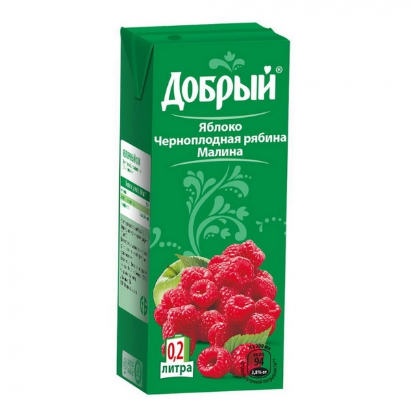 СОК ДОБРЫЙ МАЛИНА ЧЕРНОП. РЯБИНА 1 Л.